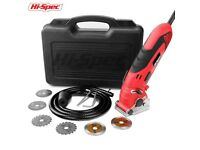 Electric Mini Circular Saw with Depth Guide, Blade Guard, Dust Tube & 6 piece Blades