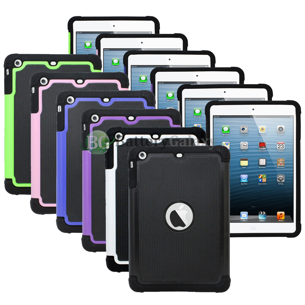 Ipad Mini Case - NEW LOT Hybrid Rubber Hard Case Cover Skin for Apple iPad Mini 1 2 3 1,100+SOLD