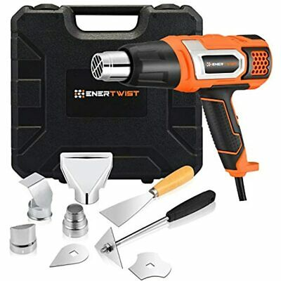 Enertwist Heat Gun 1500 Watt Variable Temperature Control Hot Air Tool Kit For -