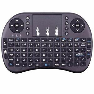 Rii i8 black 2.4GHZ wireless keyboard with touchpad mouse for smart TV/PC/android box