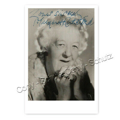 Margaret Rutherford / Miss Jane Marple - Autogrammfotokarte laminiert [K19]