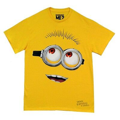Despicable Me 2 Minion Big Head Licensed Adult T - Adult Minion Shirt
