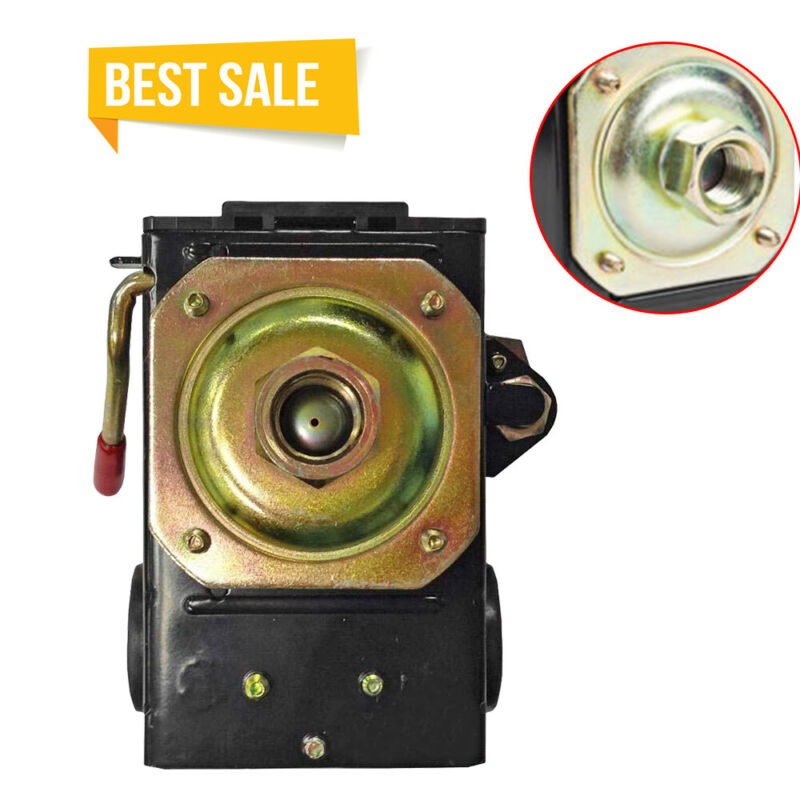 Air Compressor Pump Pressure Control Switch Valve 90-120PSI 1 Port On/Off Lever