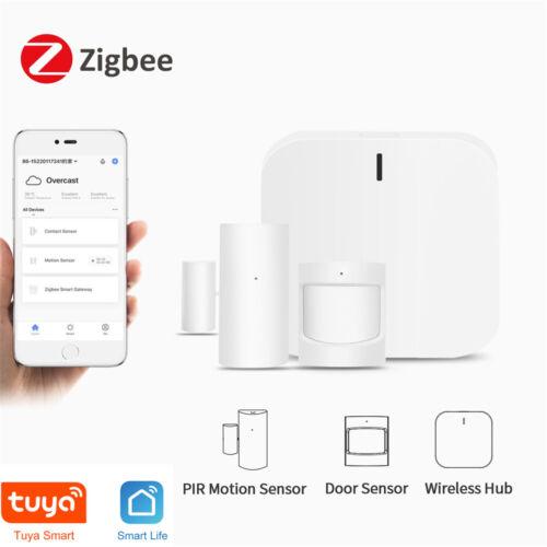 Zigbee Smart Home Alarm Kit Home Automation Hub Door Sensor PIR Motion w/ Alexa Consumer Electronics
