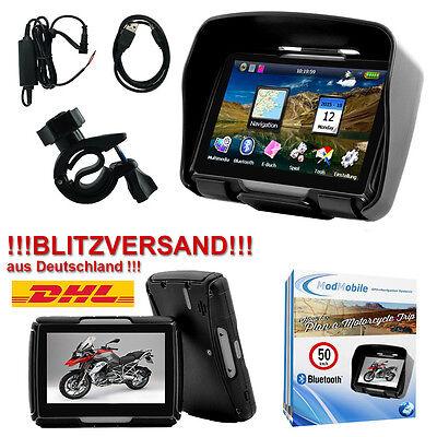 Motorrad Navigationsgerät 4,3 Zoll GPS Navigation 46 Länder Bike Bluetooth Neu