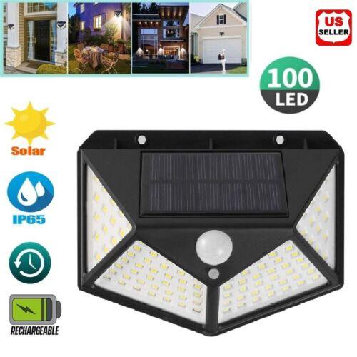 100 LED Solar Power PIR Motion Sensor Wall Light Outdoor Waterproof Garden Lamp Home & Garden