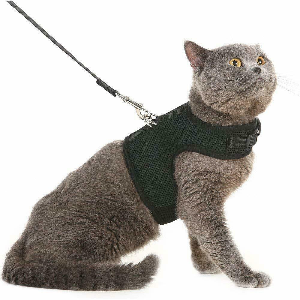 Arn/és para gato a prueba de escape malla suave ajustable para pasear a mascotas