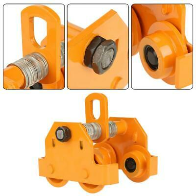 1 Ton Steel I-beam Push Beam Track Roller Trolley Beam Girder Tool Usa