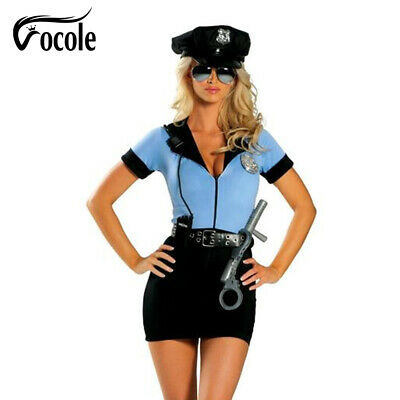 Sexy Police Women Officer Cop Cosplay Outfit Adult Club Costume](Police Officer Costumes For Women)