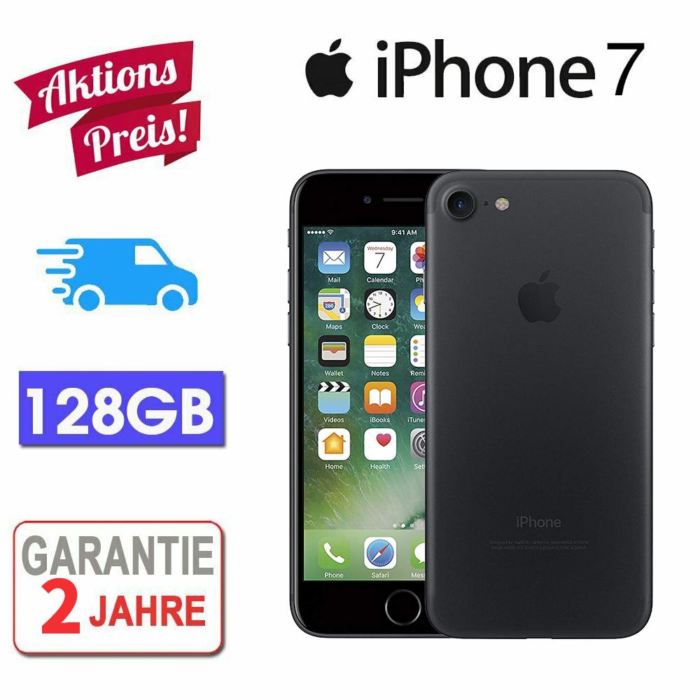 NEU Apple iPhone 7 128GB Schwarz Ohne Simlock Smartphone Handys OVP DE