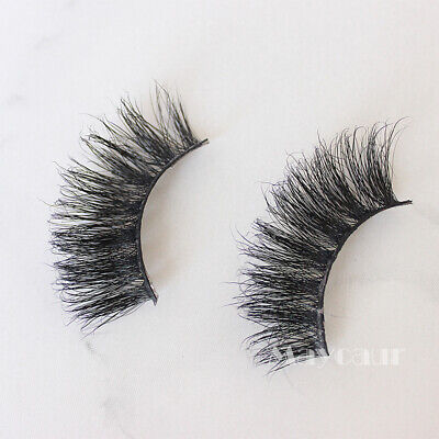 Cheap 1Pair 5D Real Mink Fake Eyelashes Natural False Lashes Makeup Tool](Cheap Eyelashes)