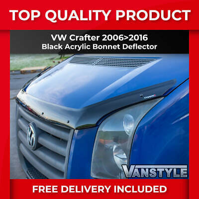 VW CRAFTER 2006>2016 BONNET BUG WIND STONE DEFLECTOR PROTECTOR NOT BONNET BRA