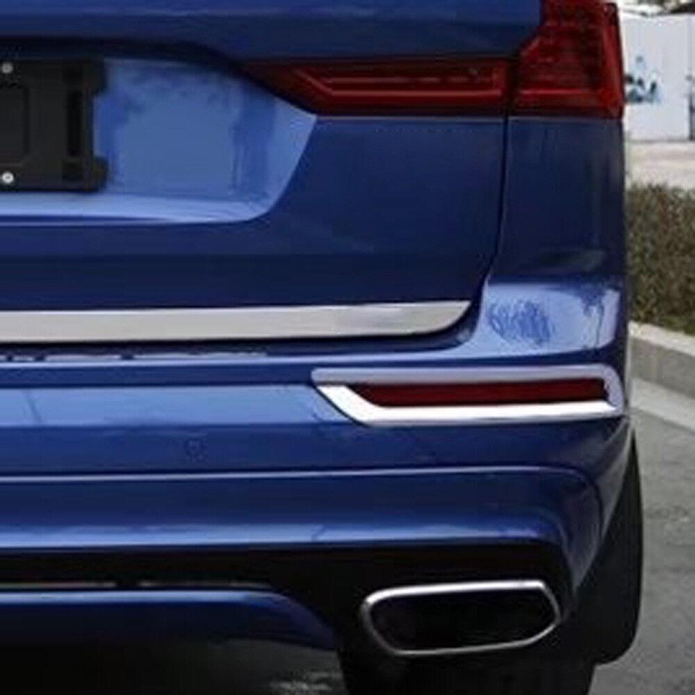 Fit For Volvo New XC60 2018 Rear Fog Light Lamp Bezel Cover Trim Chrome