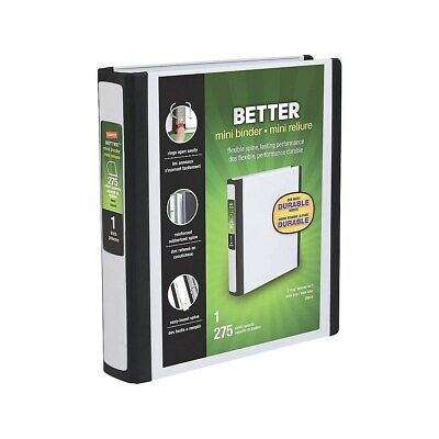 Staples Better Mini 5.5 X 8.5 Inch 3-ring View Binder White 20949 924439