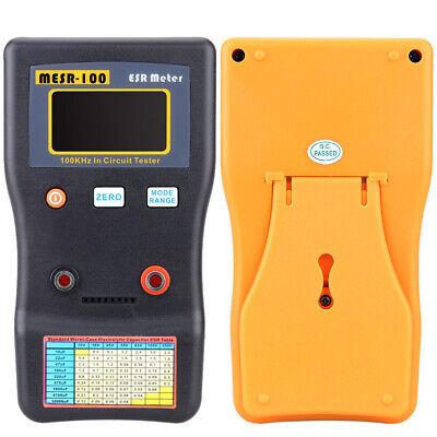 Mesr-100 Esr Low Ohm Meter Capacitance Resistance Capacitor Circuit Tester H5e6