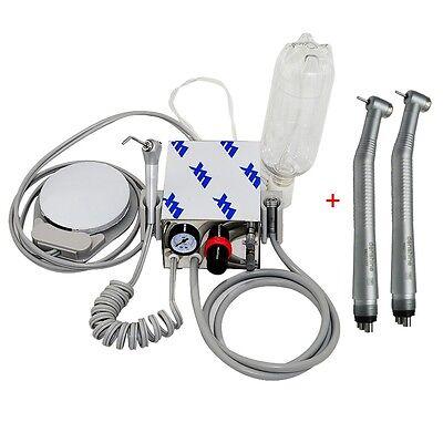 Portable Dental Turbine Unit Air Compressor 2fast High Speed Handpiece 4hole