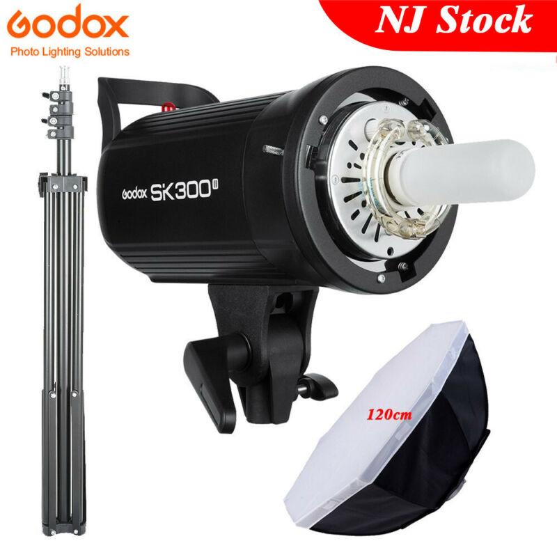 US Godox SK300II Monolight Studio Strobe Flashes+120cm Bowens Softbox Stand Kit