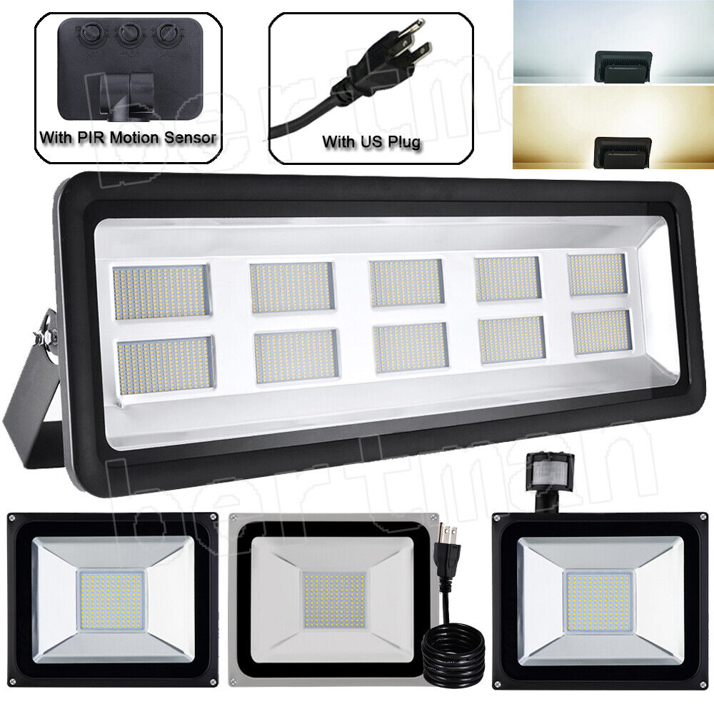 1-10X 100W 50W 20W 10W LED Flood Light Floodlight With PIR Motion Sensor Outdoor