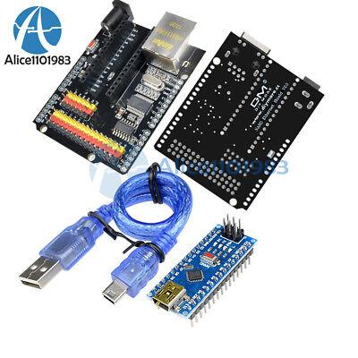 Enc28j60 Ethernet Shield V2.0 Network Nano V3.0 Atmega328 Ch340g F Arduino Cable