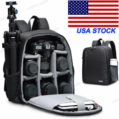 CADeN D6 Black Camera Bag Waterproof Backpack for Canon Niko