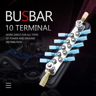 Universal 10way Terminal Bus Bar Ground Distribution Wire Block For Car Truck Rv