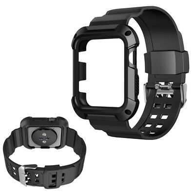 Best 42mm Rugged Silicon Sport Strap Band Screen Protector Case For iWatch