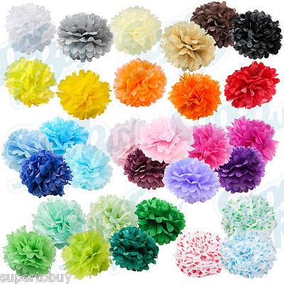 10 pack Paper Tissue Pom Poms 8