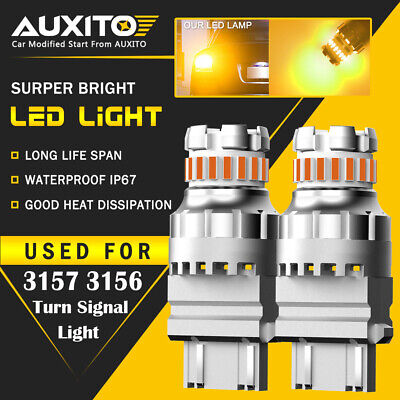 AUXITO 3157 3156 Amber yellow LED Turn Signal Parking Light Bulb Error Free EOA
