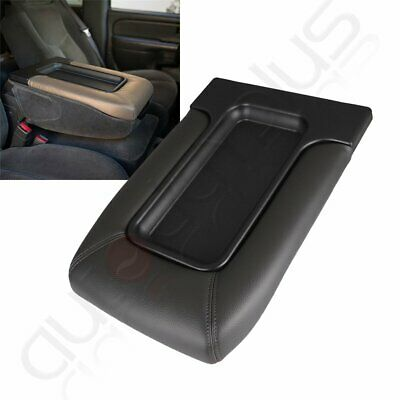 Center Console Lid Cover For 99-07 Silverado GMC Sierra Yukon Armrest Dark Grey