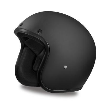 Brand New Daytona Cruiser Dull Black Open Face DOT Biker Motorcycle Helmet Black Cruiser Open Face Helmets