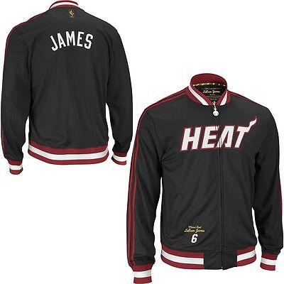 Adidas Lebron James NBA LEGENDARY Heat Premium Track Warm Up Jacket EMBROIDERED Adidas Nba Warm Up Jacket