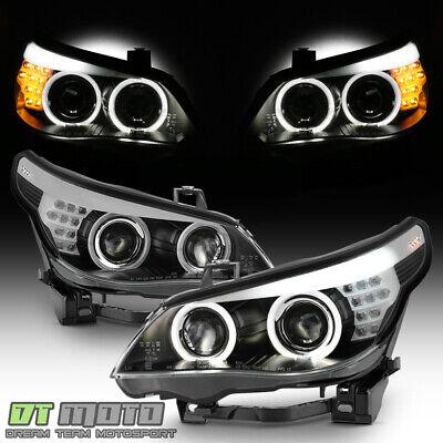 2008-2010 BMW E60 528i 535i HIDXenon w/o AFS LED Signal DRL Projector Headlights