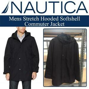 New  Nautica Mens Stretch Hooded Softshell Commuter Jacket Condition: New, Size: XXL