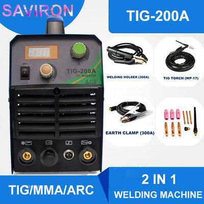 Tigmmaarc Welding Machine 200a Igbt Inverter Hf Welder Portable Househood 220v