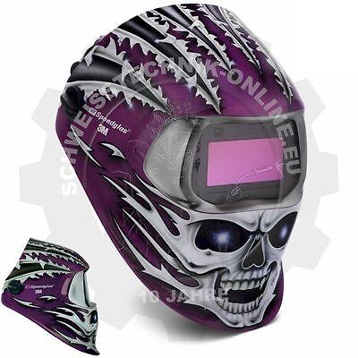 Automatikhelm Speedglas 100V Raging Skull DIN3/8-12 (Schweißhelm, Schweißerhelm)