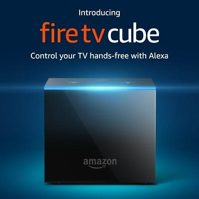 Amazon Fire Tv Cube Smart Assistant Aw  Alexa 4K Ultra Hd Streaming Media Player