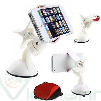 Supporto auto ventosa VETRO+CRUSCOTTO Bianco Asus Zenfone 4 Selfie ZB553KL W8T
