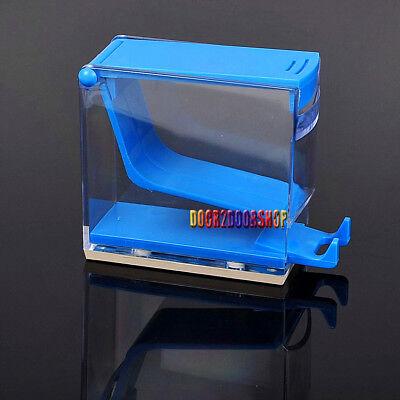 Dental Cotton Roll Dispenser Holder Press Type Blue