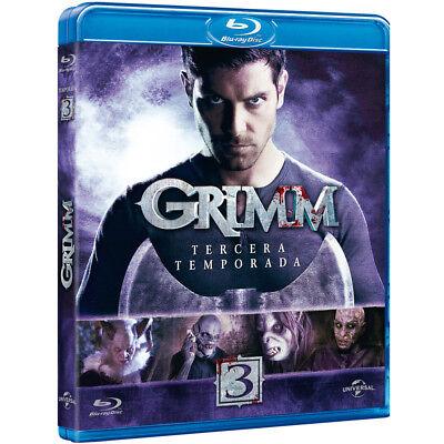 Grimm TEMPORADA 3 (TERCERA) EN Blu-Ray CASTELLANO EDICION ESPAÑA NUEVO
