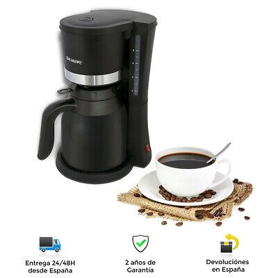 Cafetera Eléctrica con Jarra Termo 1 Litro - Función Térmica, Filtro Extraible