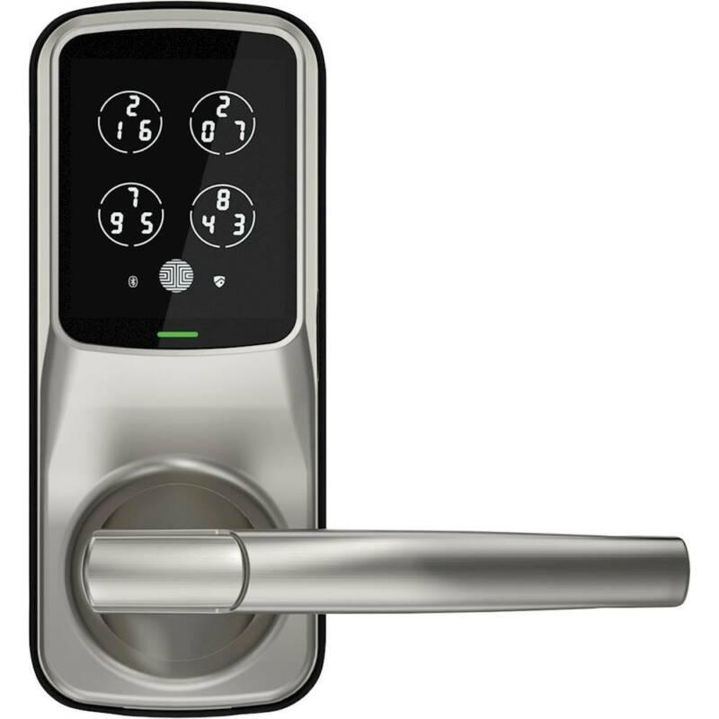 Lockly - Secure Plus Bluetooth Latch - Satin Nickel