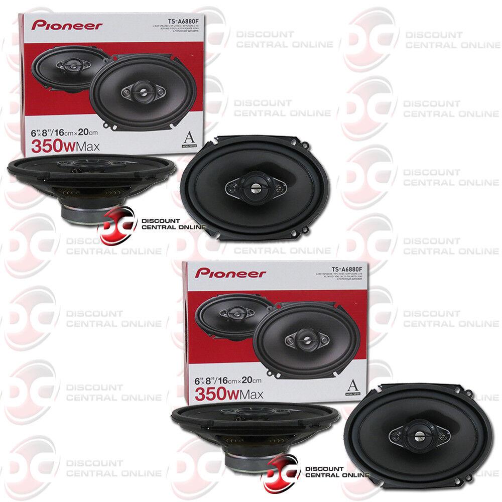 "4 x PIONEER TS-A6880F 6 x 8"" 4-WAY CAR AUDIO COAXIAL SPEAKER"