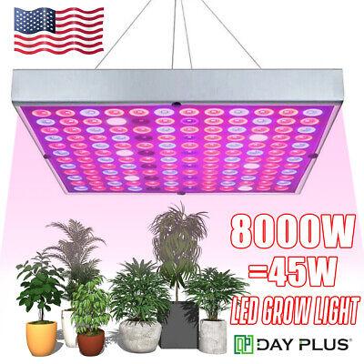 8000W 144 LED Grow Light Hydroponic Full Spectrum Veg Plant Lamp Panel Indoor A+
