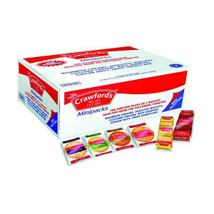 Crawfords Mini Packs 100's Biscuits 3 Biscuits Per Pack,Buy 3+ & get FREE P&P