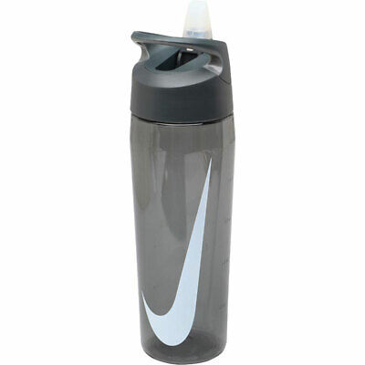 Nike Water Bottle Hypercharge Straw 24oz Transparent Black Gym Sports Brand New