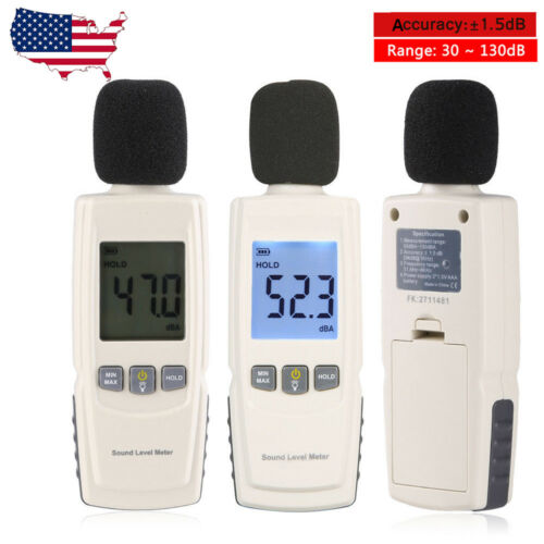 Digital LCD Noise Decibel Meter Sound Pressure Level Meter Measurement 30~130dB