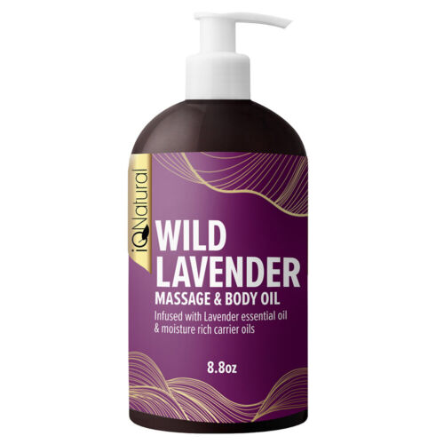 Lavender Massage Oil Infused with Real Lavender Essential Oil