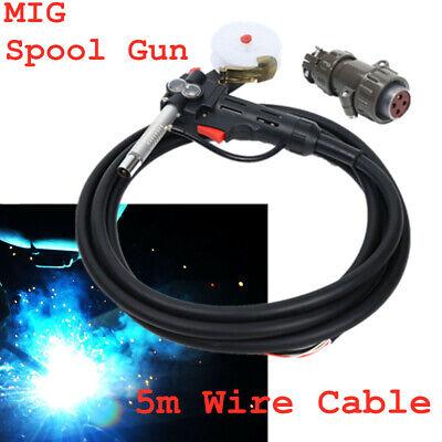 Mig Spool Gun Gas Shielded Welding Gun 16ft Lead Push Pull Feeder New Stock
