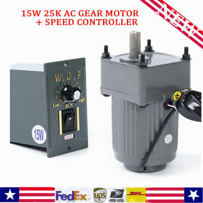 Ac Gear Motor Electric Motor Variable Speed Controller 110 125rpm 110v 15w