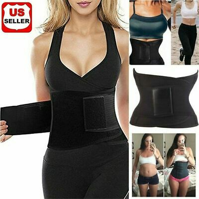 Sauna Slim Belt - HOT Best Waist Trainer Women Sauna Sweat Thermmal Yoga Slim Sport Shaper Belt US